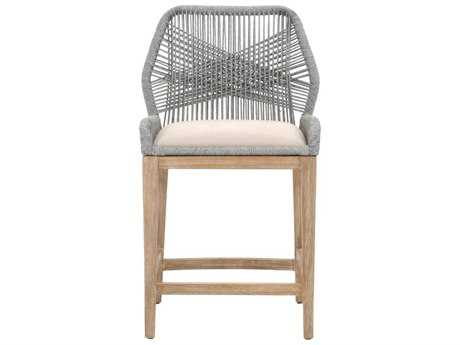Orient Express Furniture Wicker Loom Platinum Rope Counter Stool