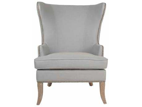Orient Express Furniture Villa Grant Spruce Belgian Linen Wing Chair