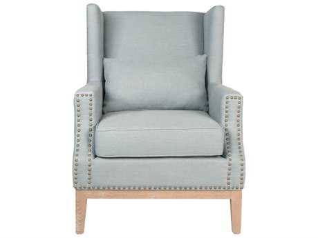Orient Express Furniture Calista Spruce Belgian Linen Club Chair