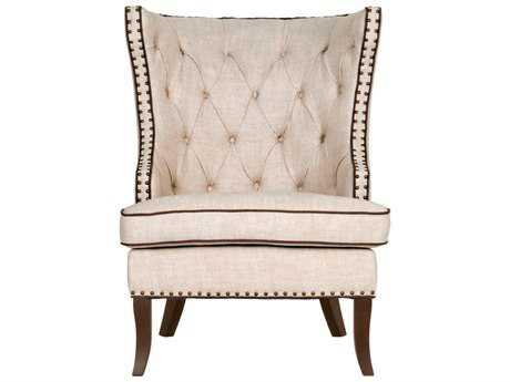 Orient Express Furniture Gramercy Bisque French Linen Club Chair