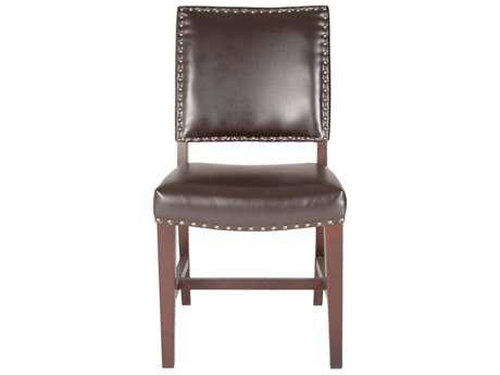 Orient Express Furniture Stella Havana Bonded Leather Dining Chair (Set of 2)
