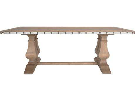 Orient Express Maddox 84''L x 42''W Antique Pine Saw Cut Top Dining Table