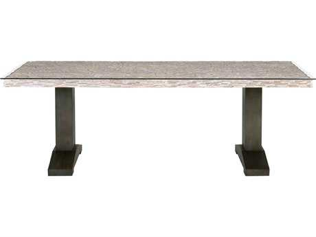 Orient Express Furniture Magnolia 87''L x 39.5''W Field Gray Pine Dining Table