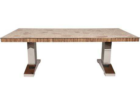 Orient Express Furniture Branch 88.5''L x 41.5''W Coffee Tree Dining Table