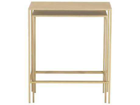 Orient Furniture Express Melange Rose 21.5'' x 13'' Rectangular Gage Brass Nesting Table