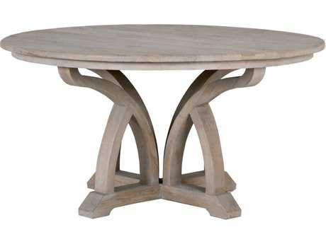 Orient Express Furniture Bella Antique 60''L x 60''W Carnegie Smoke Gray Elm Dining Table