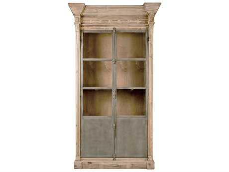 Orient Express Furniture Bella Antique Grecian Smoke Gray Pine Display Cabinet