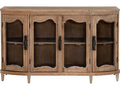 Orient Express Furniture Bella Antique 59''L x 19''W Provence Smoke Gray Pine Sideboard