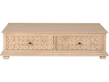 Orient Express Furniture Bella Antique 56'' x 32.5'' Morocco Sand Elm Coffee Table