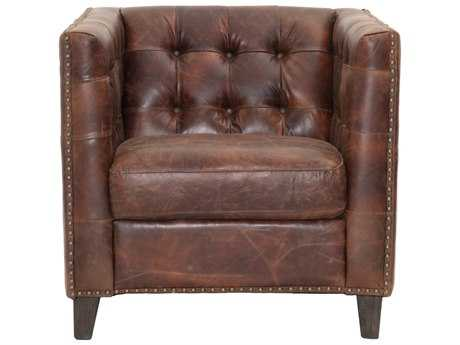 Orient Express Furniture Patina Ritchey Cigar Antique Leather Sofa Chair