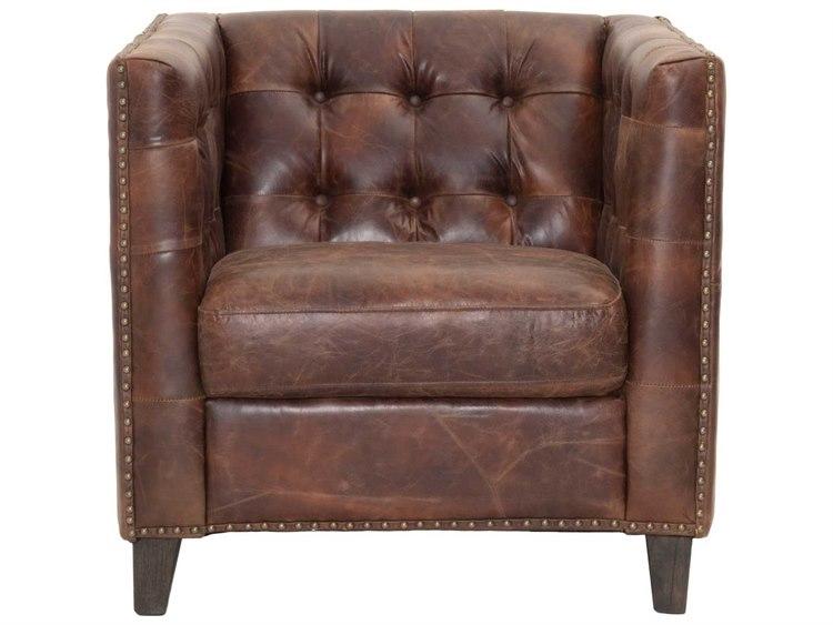 Orient Express Furniture Patina Ritchey Cigar Antique Leather Sofa Chair - Orient Express Furniture Patina Ritchey Cigar Antique Leather Sofa