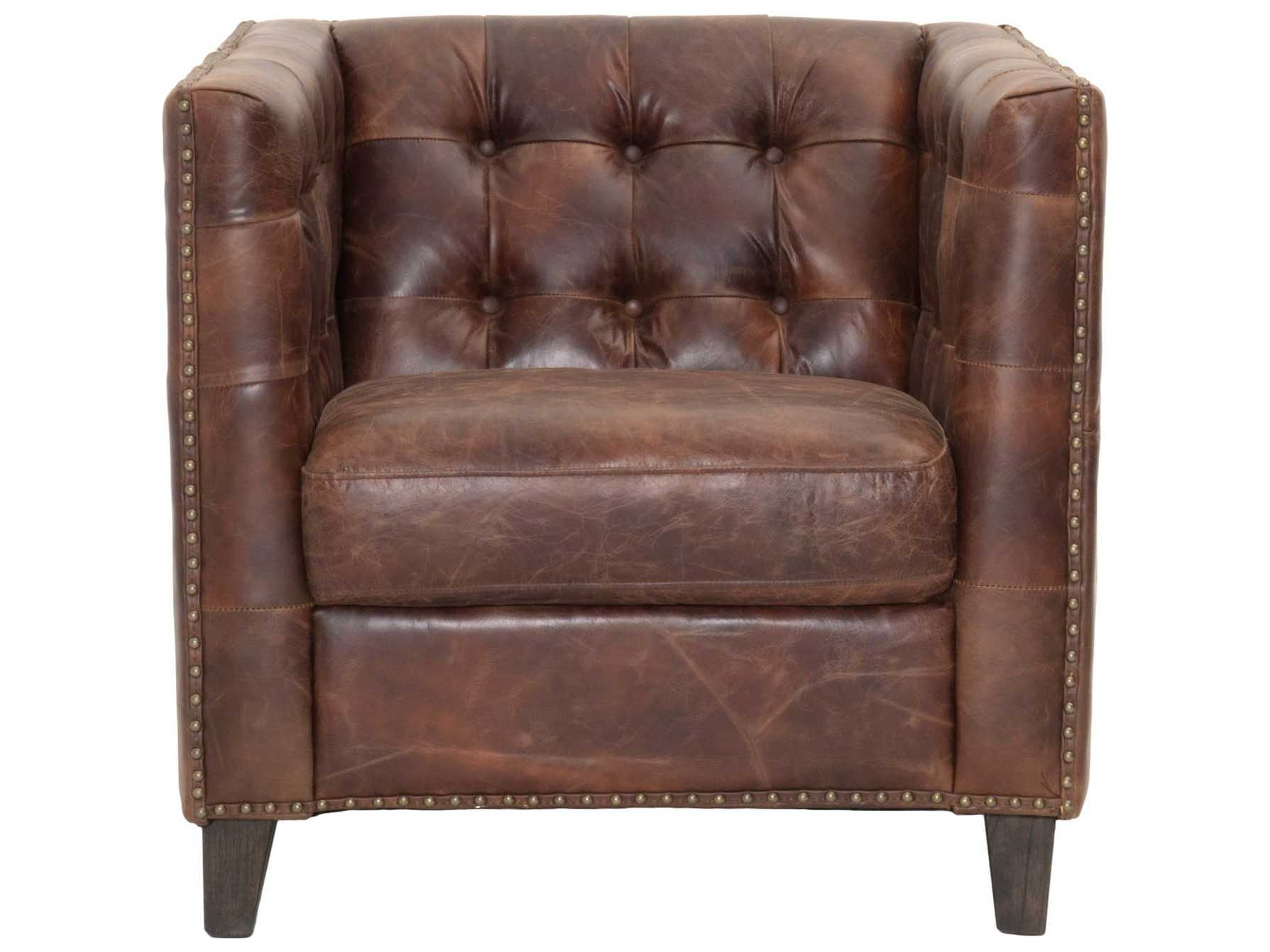 Orient Express Furniture Patina Ritchey Cigar Antique Leather Sofa Chair ...