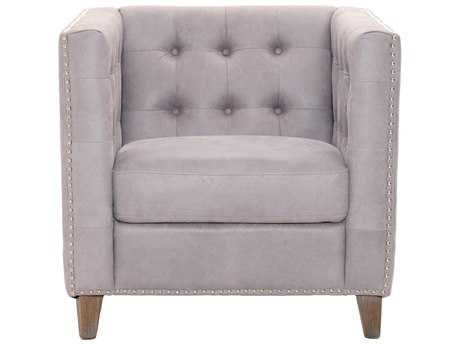 Orient Express Furniture Patina Ritchey Pearl Gray Leather Sofa Chair