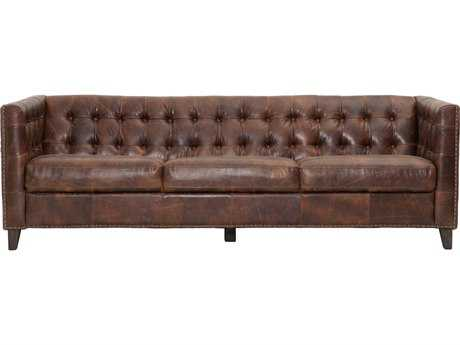 Orient Express Furniture Patina Ritchey Cigar Antique Leather Sofa