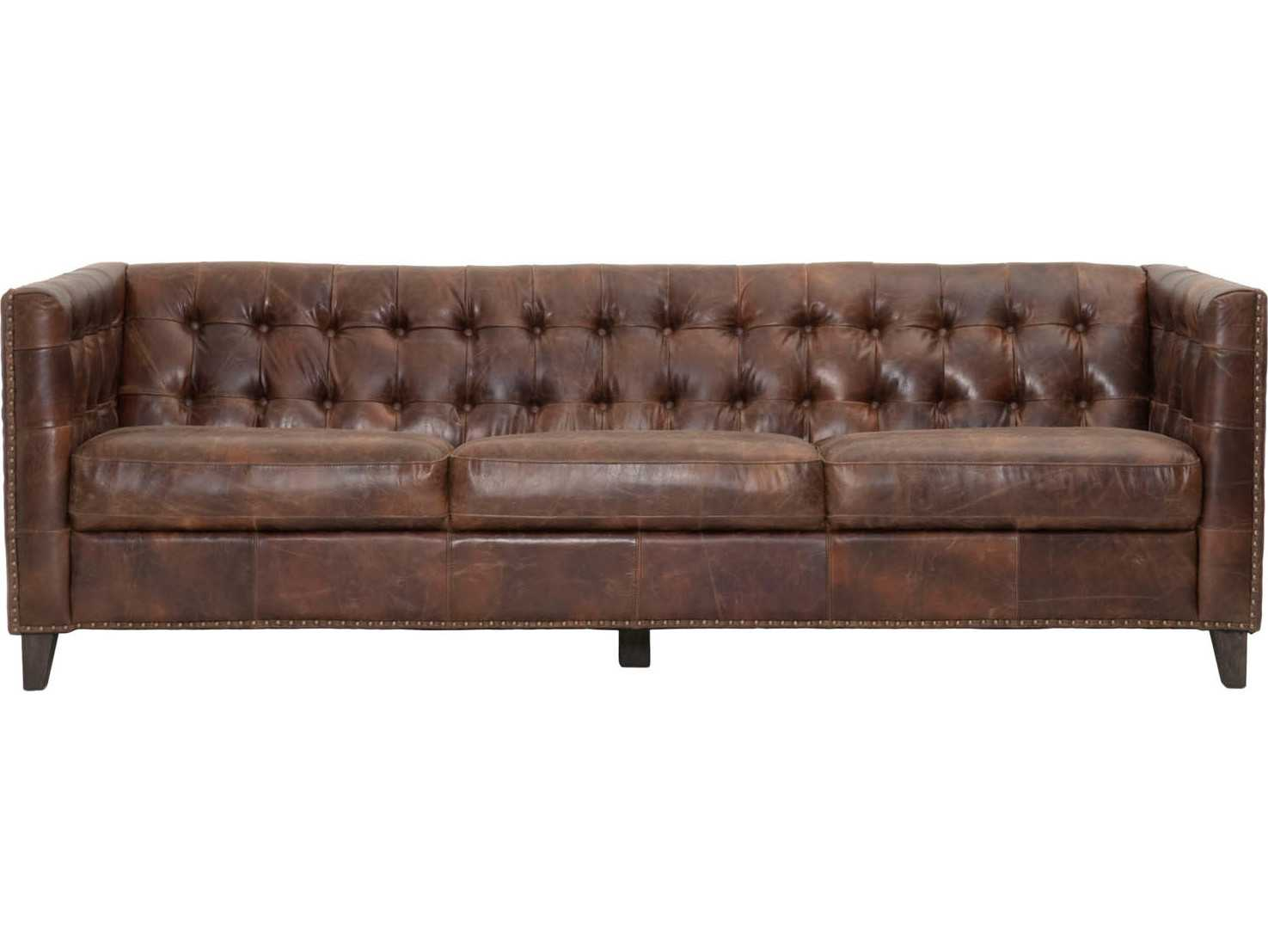 Antique Leather Sofa H38