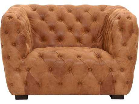 Orient Express Furniture Rockwell Chestnut Leather Sofa Chair