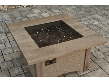 Outdoor Greatroom 24'' X 24'' Square Grey Tempered Glass Burner Cover