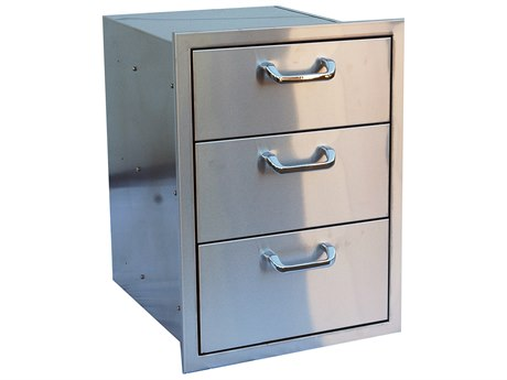 Outdoor Greatroom Stainless Steel (3) Drawer Storage