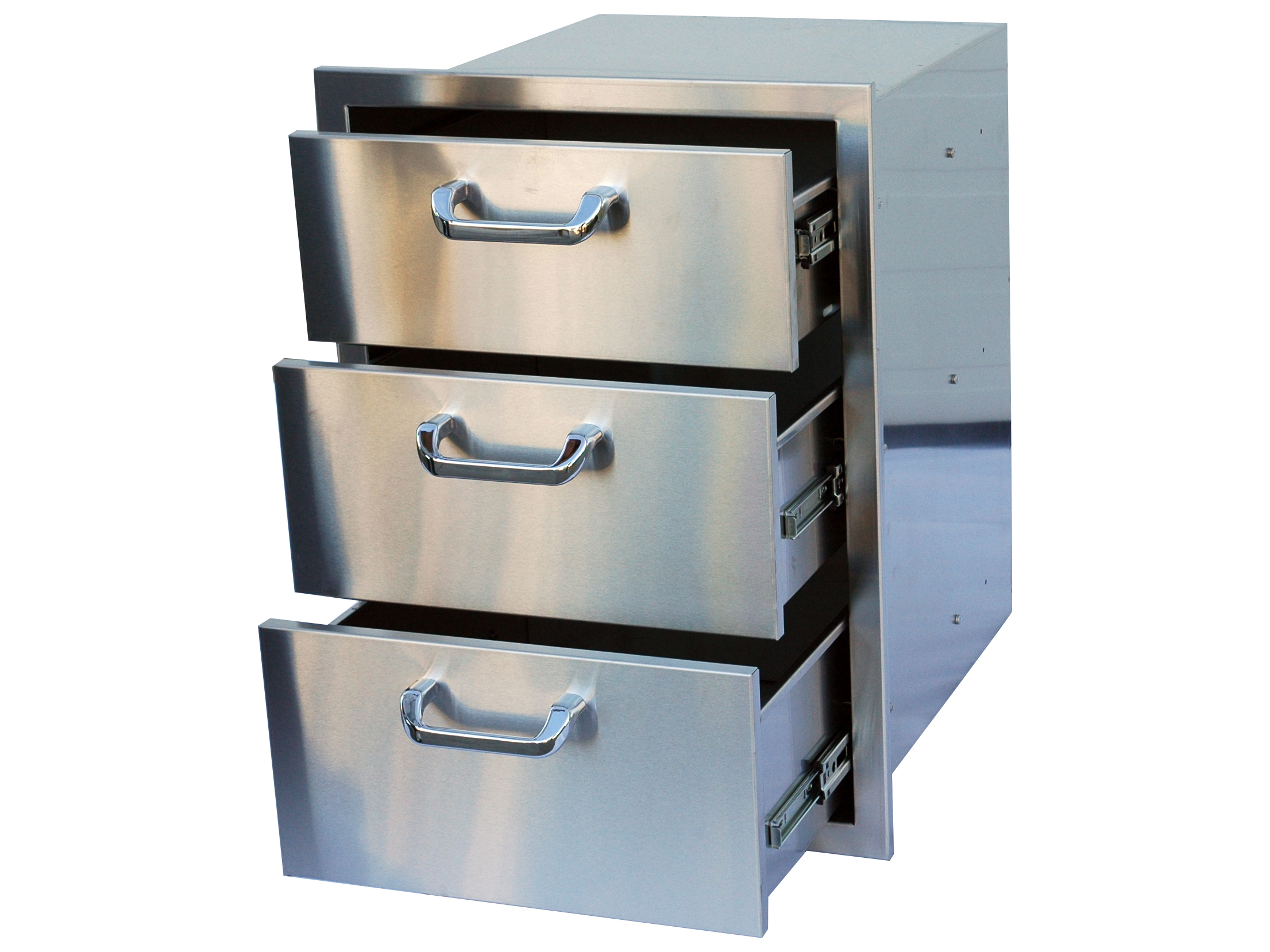 Outdoor Greatroom Stainless Steel 3 Drawer Storage