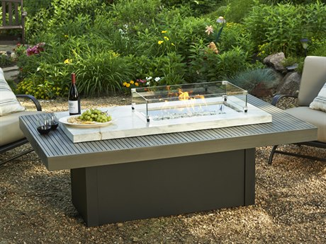Outdoor Greatroom Boardwalk Linear Gas Fire Pit Table