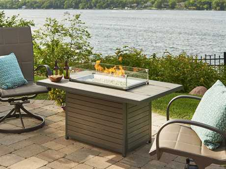 Outdoor Greatroom Brooks 30.75W x 50D Rectangular Aluminum Fire Table