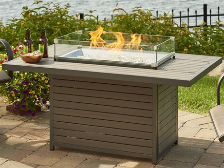 Outdoor Greatroom Brooks Rectangular Gas Fire Pit Table