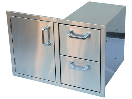 Outdoor Greatroom Stainless Steel Combination Vertical Single Access Door and (2) Drawer Storage