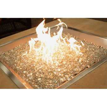Outdoor Greatroom 12'' Round Crystal Fire Stainless Steel Burner with Glass Fire Gems