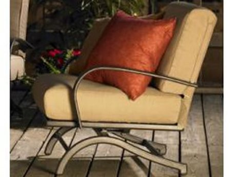 Outdoor Greatroom Chat Rocking Chairs with Tan Cushions