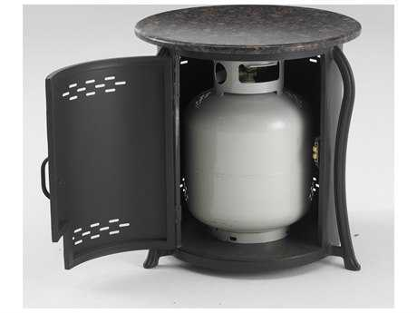 Outdoor GreatRoom Aluminum 21 Round Table & Propane Tank Cover with Granite Top