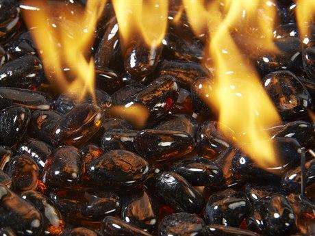 Outdoor GreatRoom Dark Amber Crystal Fire Stones