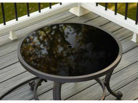 Outdoor GreatRoom 21 Round Glass Top Replacement for Tripod Crystal Fire Pit Table