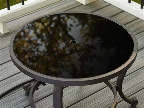 Outdoor Greatroom 20'' Round Black Tempered Glass Burner Cover