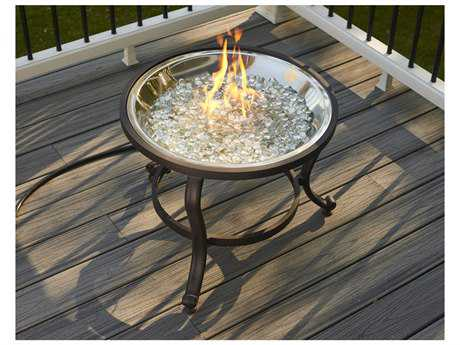 Outdoor GreatRoom Aluminum 22.5 Round Crystal Tripod Fire Pit Table