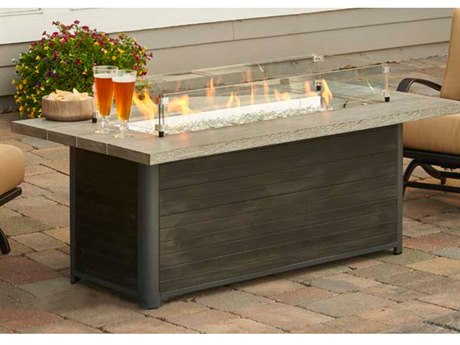 Outdoor GreatRoom Cedar Ridge Linear Gas Fire Pit Table
