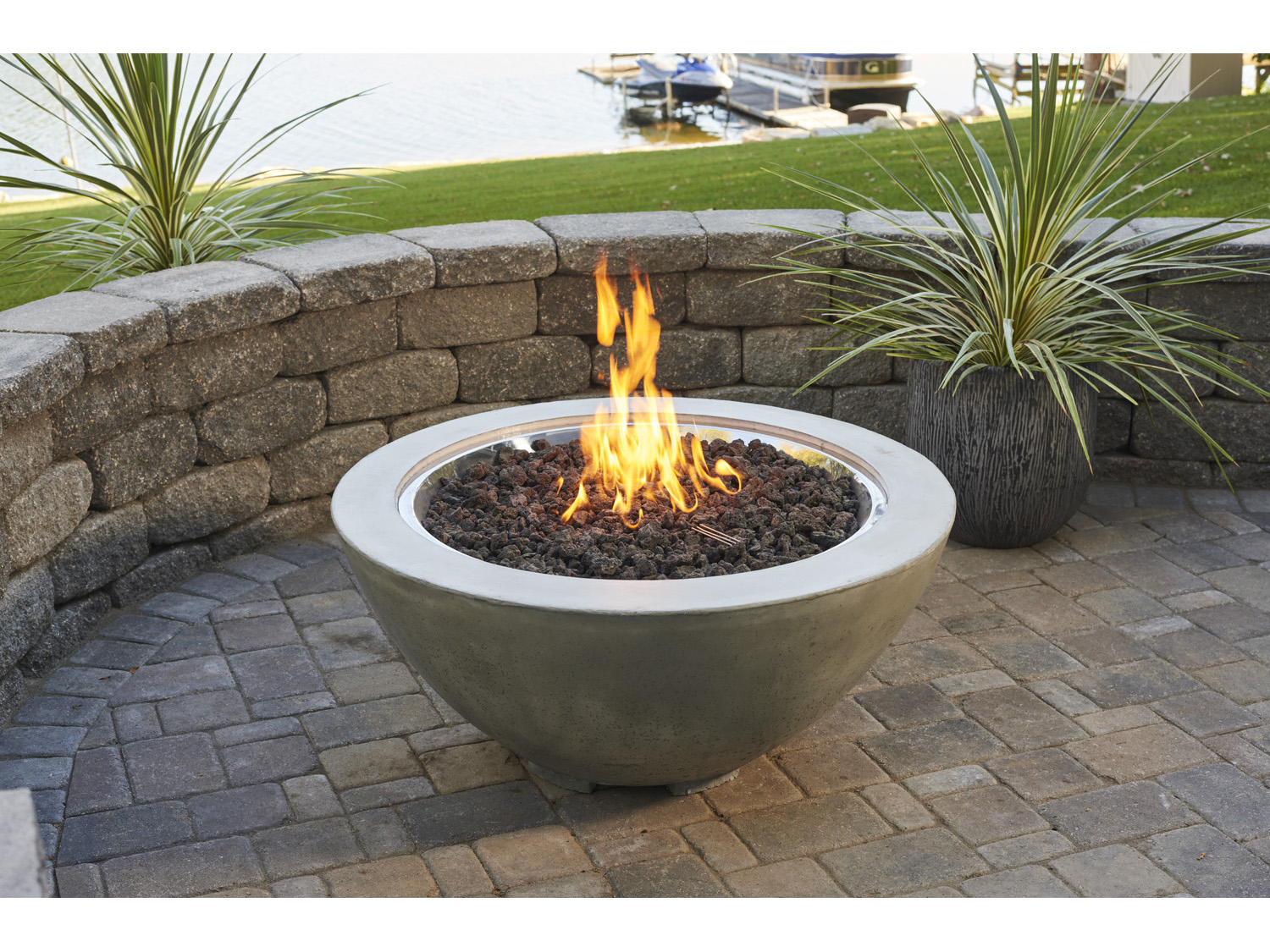 Outdoor Greatroom 42 39 39 Round Cove Fire Pit Table Ogcv30