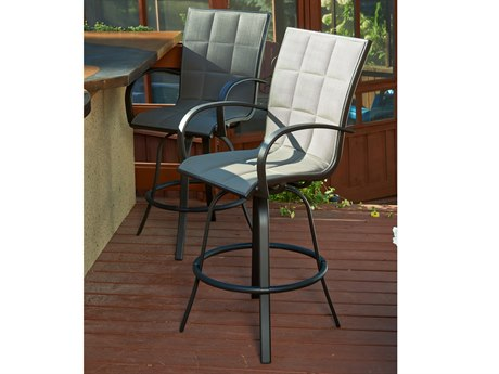 Outdoor GreatRoom Empire Aluminum Swivel Bar Stool (Set of 2)