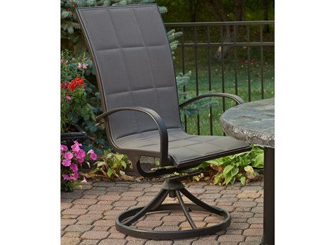 Outdoor GreatRoom Empire Aluminum Swivel Rocker Dining Chair (Set of 2)