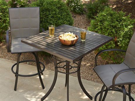 Outdoor GreatRoom Empire Aluminum 36 Square Dora Brown Pub Table