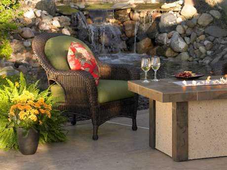 Outdoor GreatRoom Balsam Wicker Spectrum Cilantro Lounge Chair