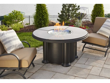 Outdoor Greatroom Colonial Fire Table with absolute black granite 4 piece top