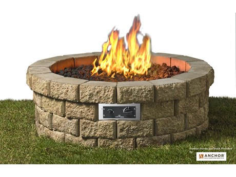 Outdoor Greatroom Hudson Fire Pit 46 diameter includes 59 Hudson stone blocks