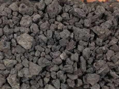 Outdoor GreatRoom Black Natural Lava Rock