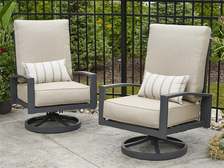 Outdoor Greatroom Lyndale Aluminum Cushion Highback Swivel Rocker (Set Of  Two) | LSR CA