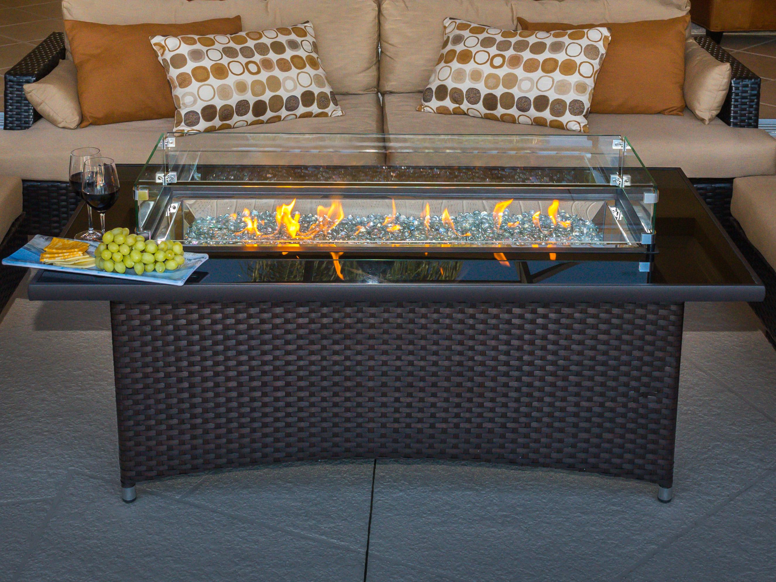 Outdoor Greatroom Montego 59'' Wide Wicker Rectangular ...