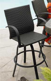 Outdoor GreatRoom Naples Wicker Swivel Bar Stool (Set of 2)