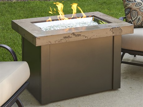 Outdoor GreatRoom Providence Aluminum 36 x 25 Rectangular Fire Pit Tanle
