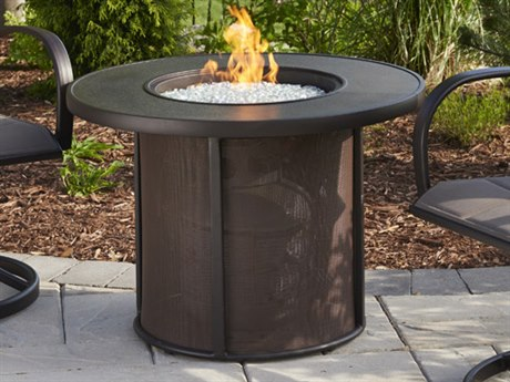 Outdoor Greatroom Stonefire Fire Table with stonefire top