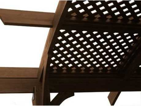 Outdoor GreatRoom Sonoma Wood Mocha Lattice Roof for 16 ft. Arched Pergola