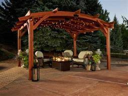 Source Outdoor Furniture Oasis Corner Decorative Curtain 1